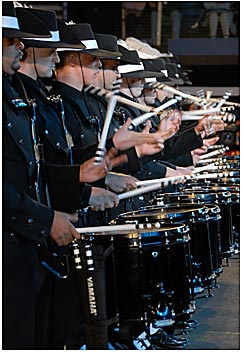 Contemporary and traditional percussion from Switzerland's awesome drummers