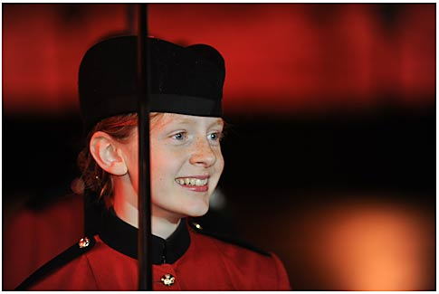 The 'young lady' from Queen Victoria School - please read more on her below...'