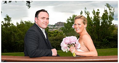 Lisa & Jamie with Edinburgh Castle in background