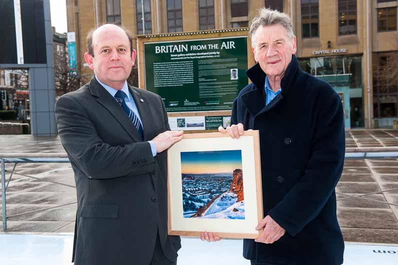 Michael Palin launches Britain from the Air 2013, Edinburgh