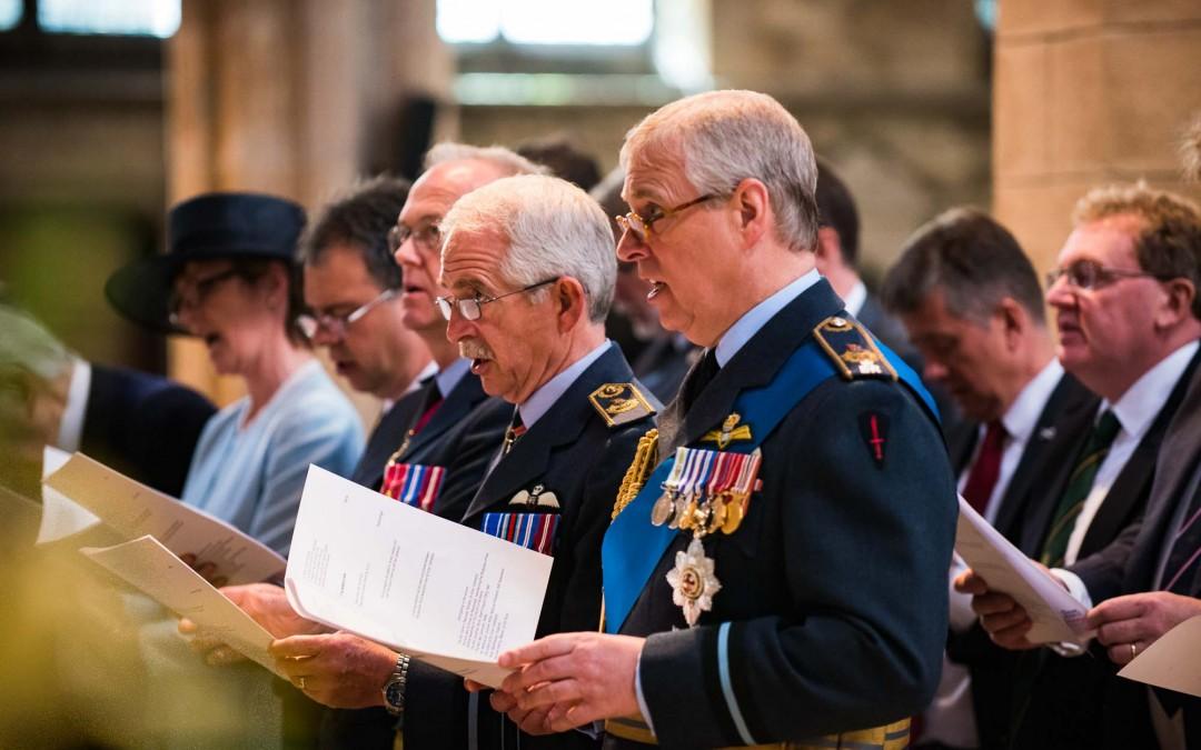 HRH Prince Andrew, Duke of York, attends Battle of Britain 75th