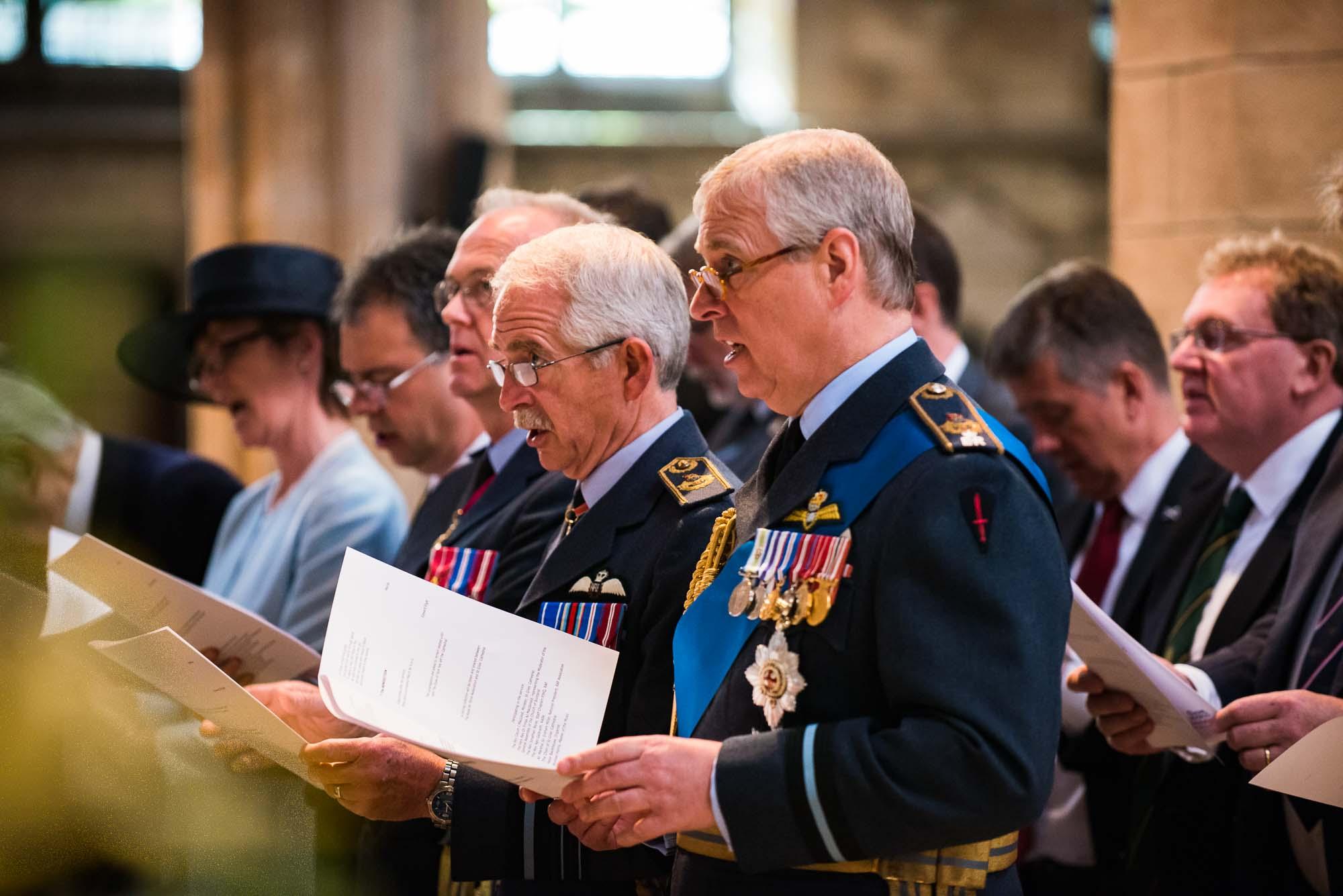 HRH Prince Andrew, Duke of York at Battel of Britain service St Giles Edinburgh