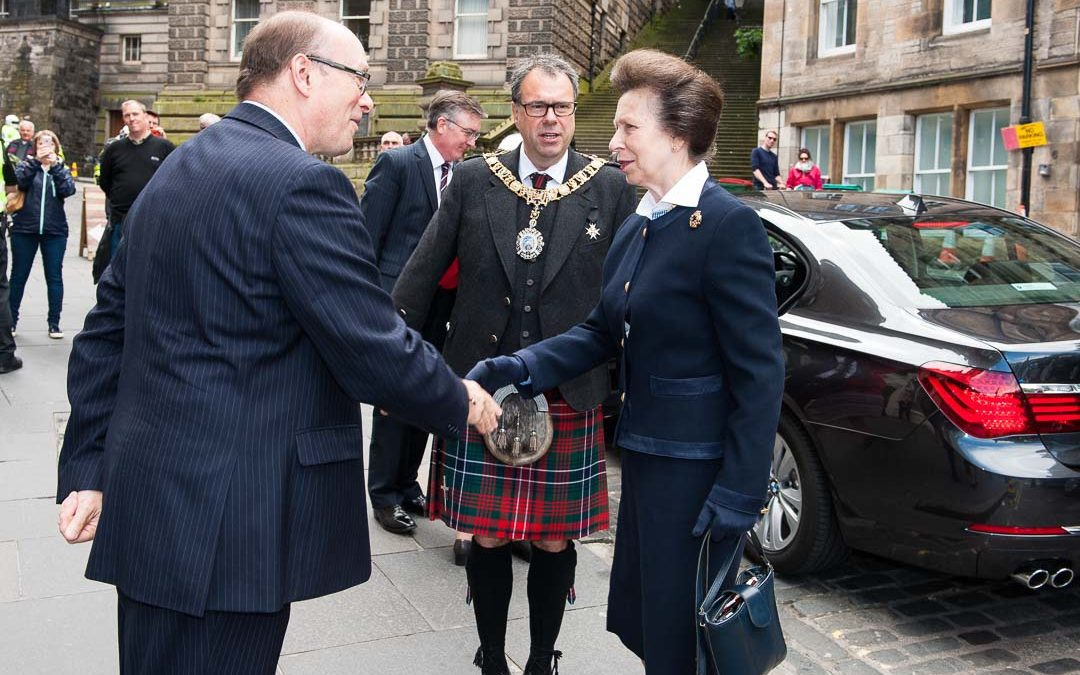 Princess Anne opens Edinburgh Military Tattoo Offices