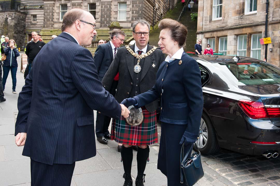 Princess Anne opens new Edinburgh Military Tatto offices